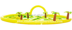 Sunshine palm theme gaint inflatbale outdoor yellow maze
