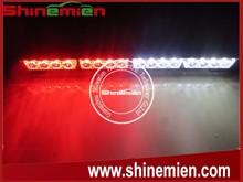 16LED 16W White/Red high power 7 flashing patters 12V car led strobe warning light bar