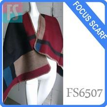 wool cashmere poncho,women winter scarf
