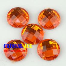 Round Acrylic sew on Rhinestones Acrylic crystal Flat Back Beads