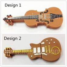 Promotional PVC custom Guitar Usb Flash Drives 2GB 4GB 8GB