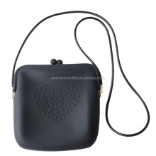 Hot Rubber Silicone Handbag for Lady Silicone Mini Shoulder Bag