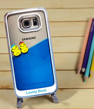 Transparent Fashion Dynamic Liquid Colorful Quicksand Clear Back Case Cover for Samsung Galaxy S6