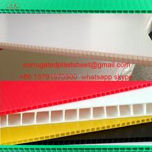 2mm 3mm 4mm 5mm corrugated plastic 4ft x 8ft sheets