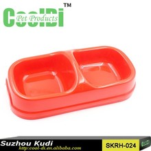 New products For Pets Plastic Double Bowl To Feed Pet