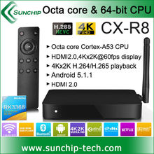 CX-R8 RK3368 Octa Core Android 5.1 4K MINI PC 2G RAM 8G ROM with gigabit LAN, dual band wifi 802.11ac 4K*2K H.265 KODI