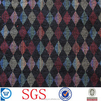 chenille cotton polyester yarn dyed jacquard fabric