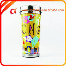 Personalized Fashion Cute Silver Metal And Plastic Sports Drinking Bottle Wholesale