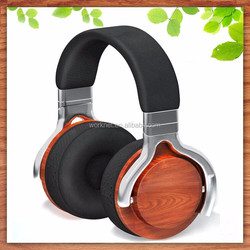 Shenzhen Worknet new product rose wood headphone for computer laptop pc tablet MP4 with volume control