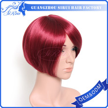 200% density full lace wig with highlights , red full lace wig