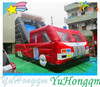 Yard Fire Truck Inflatable Slide for Sale