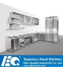 appartamento imballaggio cucina 304 base in acciaio inox anta
