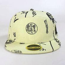 5 panel cap custom your own label/100% cotton 5 panel printed cap