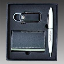 hot selling men leather card holder gift set, factory gift set