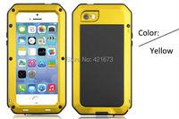 алюминиевая крышка металлические корпуса водонепроницаемый шок с гориллы закаленное стекло экрана протектор подходят отпечатков пальцев прикосновение id для iphone 5s