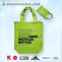 210D polyester reusable bag/ folding shopping bag