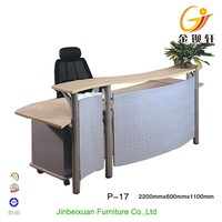 finely processed modern reception desk