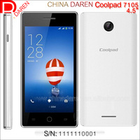 2015 newest Original Coolpad 7105 android smartphone Unlocked China Brand Phone 4G+3G+2G 4.5 inch Andoid 4.4Touch Phone