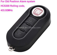 FIATT style Remote key for brazil positron alarm system,folding remote positron key, 433.92Mhz, hcs300 rolling code