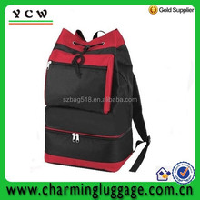 Portable backpack polyester insulated cooler bag