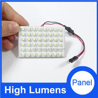 High power 3528 48smd car LED license plate lights door dome plate lamps automotive PCB panel lights