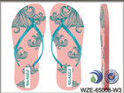 2016 agradável impresso praia fantasia flip-flops para meninas lady flip-flops / sandálias