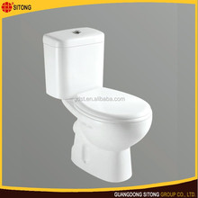New floor mounte toilet for bathroom , Western Two Piece Toilet Bowl