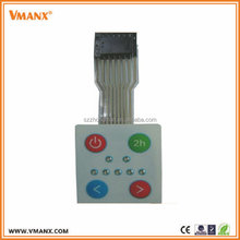 High Quality 4 Button Waterproof Backlight Membrane Switch