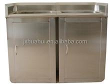 vendita calda di alta qualità in acciaio inox lavello con gocciolatoio mobile lavello per la vendita