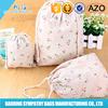cotton jewelry pouch/cotton drawstring pouch/pouch bag