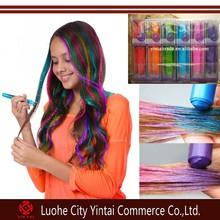 EN71 certification high quality cream form temporary shining hair coloring pen/disposable hair dye crayon