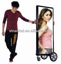 J2B-483 New media mobile outdoor advertising inflatable billboard with high bright LED light
