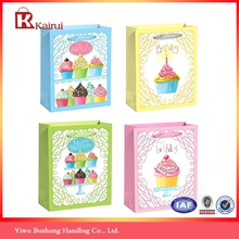 2015 wholesale birthday gift bags New design little paper bag with handles