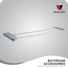 Hotel style chrome plated bathroom shelf for towels