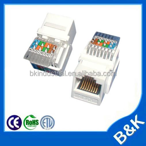 iran pazarı en iyi kalite sıcak satış utp cat 5e RJ45 keystone jack tooless Cat6 modüler fiş ce sertifika üreticisi