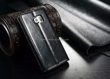 for samsung s6 case, flip leather stand wallet slot case for s6 edge