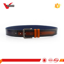Single Prong Buckle Men Leather Belt