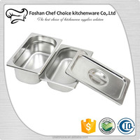304&201 Shining 1/4*200mm Stainless Steel Food Pan Gn Pan Catering Gastronorm Ice Cream Container Sales Factory Price