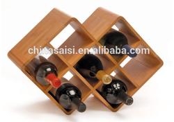 bamboo material custom wine rack for sale