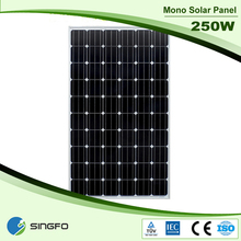 Wholesale 250wp Solar PV Module Tempered Glass With Alluminium Frame