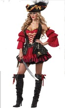 DJ-PZ-117 Adult Sexty pirate red black white green party fair costumes