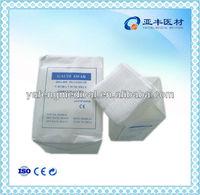 100% cotton absorbent gauze swabs paper bag(gaze/gaza/garza/gasa)