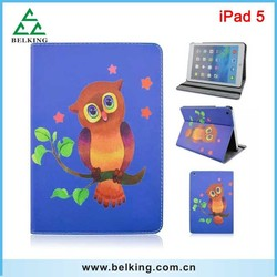 New Arrival Printed Colorful Leather PU Flip Open Case For iPad 5, For iPad 5 Printing Case