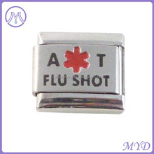 Allergy Allergic to Flu Shot Medical Alert Italian Charm for Bracelet