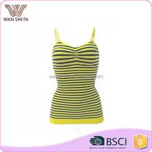 Factory price stripe adjustable shoulder strap nylon fat women sexy body shaper