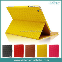 Promotional Stand For iPad 4 Leather Case,Porfolio design cover case for iPad 2 iPad 3 iPad 4