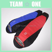 Adult Outdoor Blue/Grey/Red Camping Ultralight Duck Down Sleeping Bag
