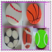 small ball eraser ,basketball, soccer, football, baseball
