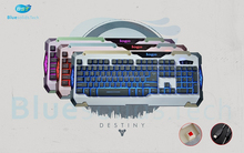 Private mould OEM 107 Keys With 19 Anti-Ghost Keys 3/7 colors changeable luminous mechanical gaming keyboard, USB keyboard/