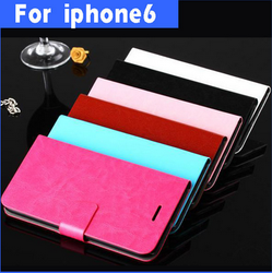 PHONE accessories cell phone case pu wallet leather case for iphone 6